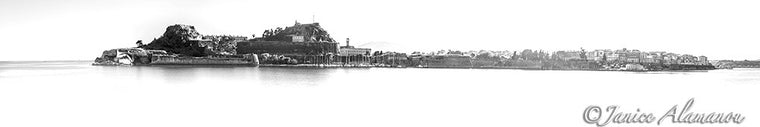 Corfu Town - Limited Edition Panoramic Photograph printed on Fine Art Paper L771516pan