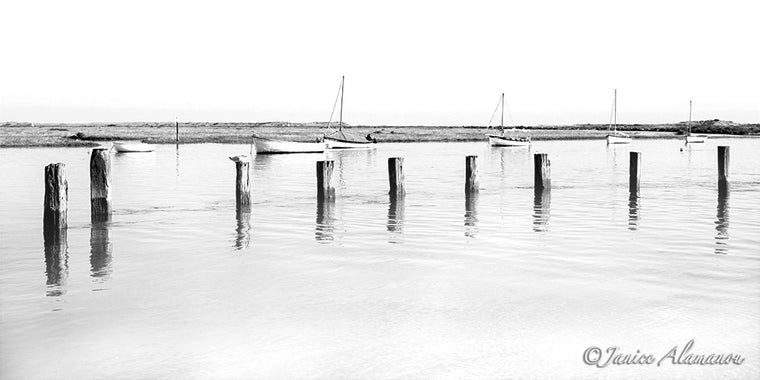 High Tide Calm - Panoramic Photograph printed on Fine Art Paper L84921bwpan