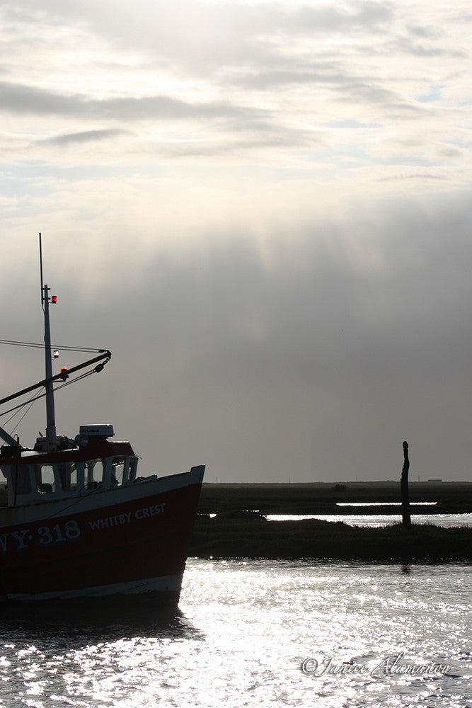 LB53 Fishing Boat and Silver Sky