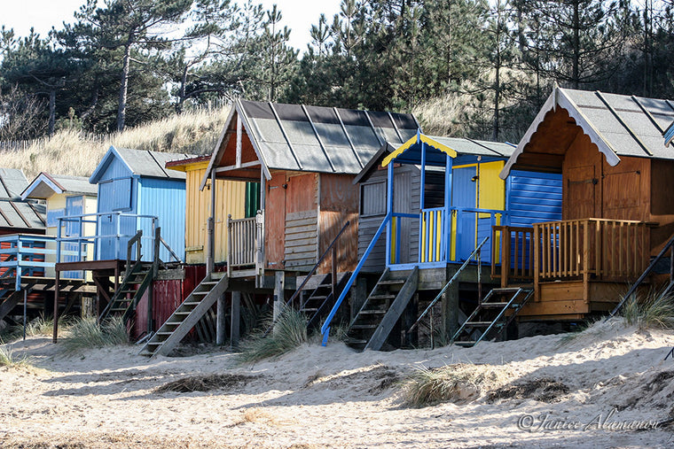 Colourful Beach Huts Photograph. Wells, Norfolk LBc264