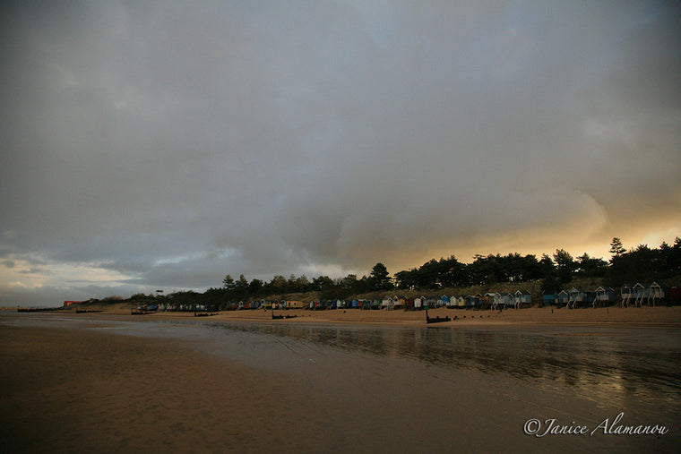 Golden Linings - Photograph of Wells-next-the-sea LBc0663