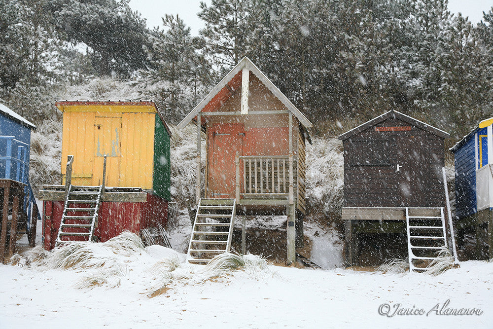 LSn82 Snowstorm over the Huts. Wells