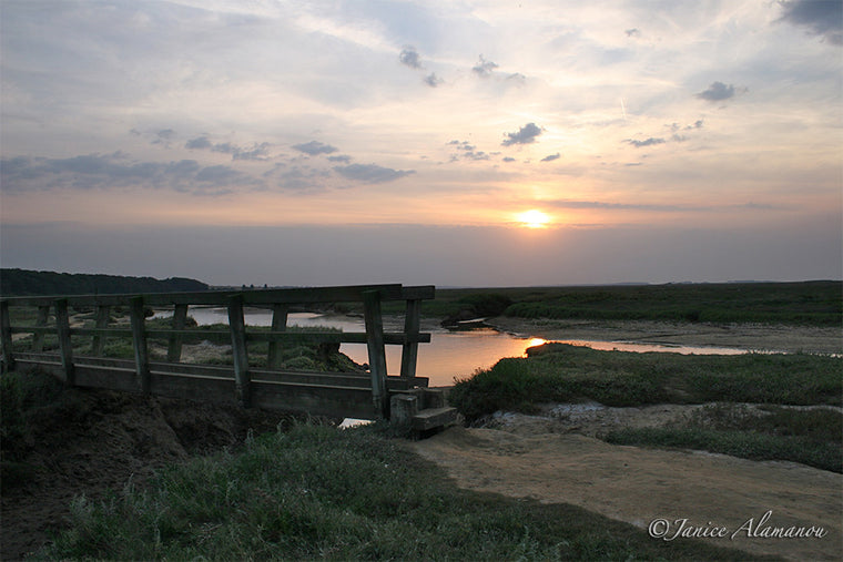 LSs10 Sunset over Wooden Bridge