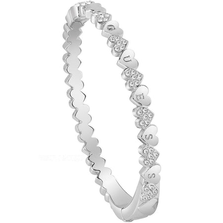 Guess Rhodium Plated Bangle