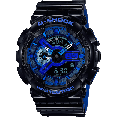 G SHOCK GA-110LPA-1AER black blue g shock