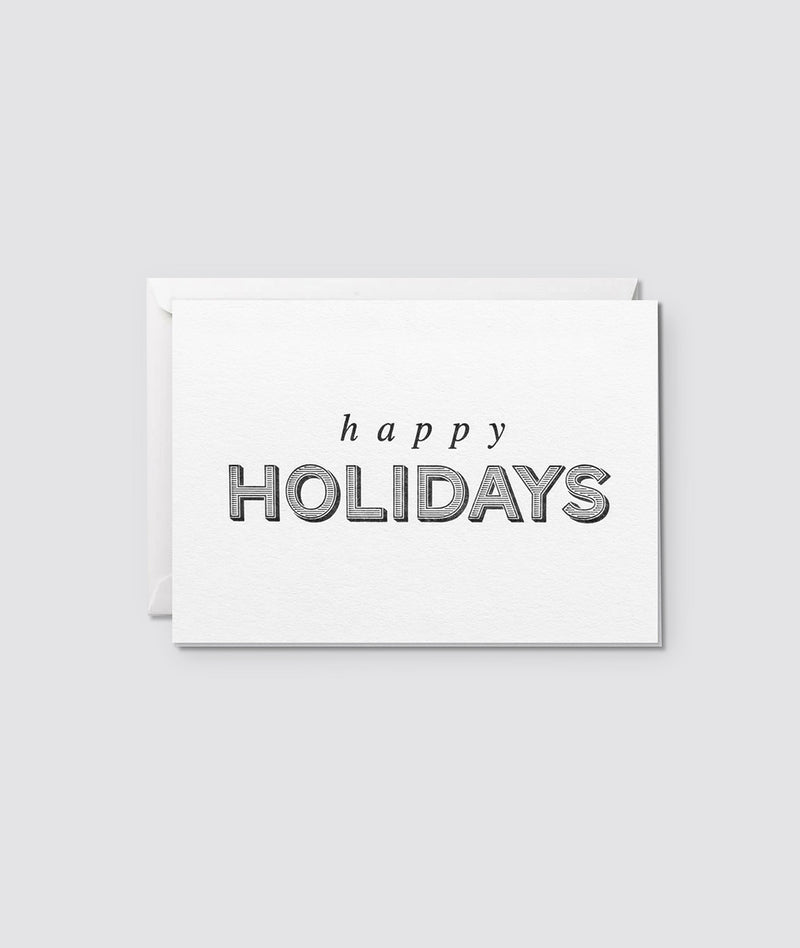 Happy Holidays Letterpress Card