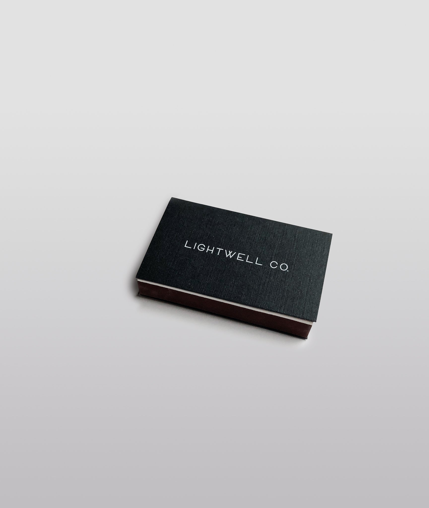 Matte Black Linen Matchbox