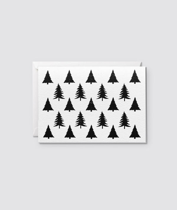 Evergreen Trees Letterpress Card