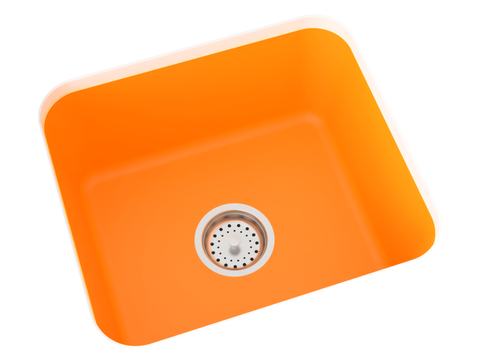 orange undermount laundry sink