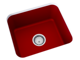 red undermount laundry sink