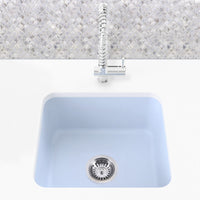 gray blue undermount laundry sink