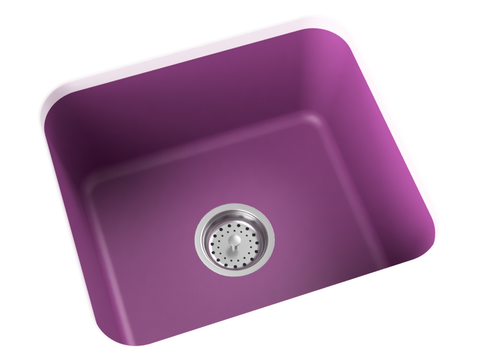 purple pink undermount single basin laundry sink