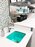 "Rectangular Undermount Laundry & Bar Sink 18"" - Alice in Breakfast at Tiffany's / Teal"