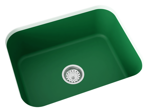 green undermount kitchen sink