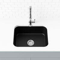 black undermount kitchen sink