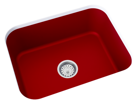 red undermount kitchen sink