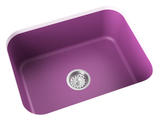 purple pink undermount single basin kitchen sink