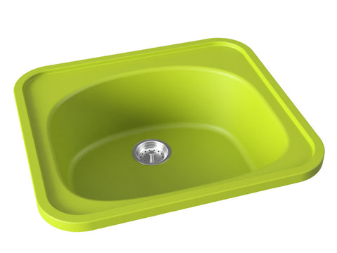 apple green drop-in kitchen bar sink