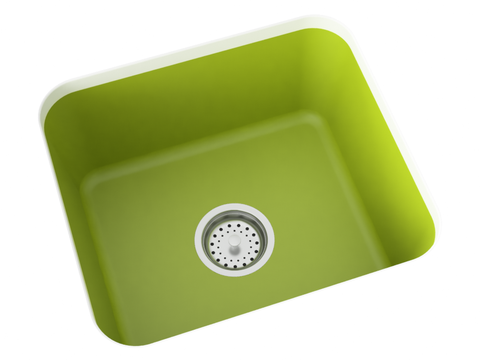 apple green greenery undermount laundry sink