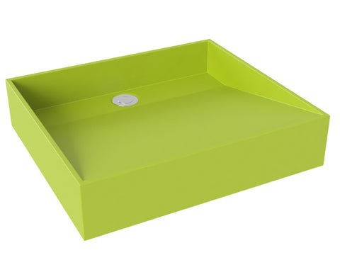 apple green vessel bathroom sink