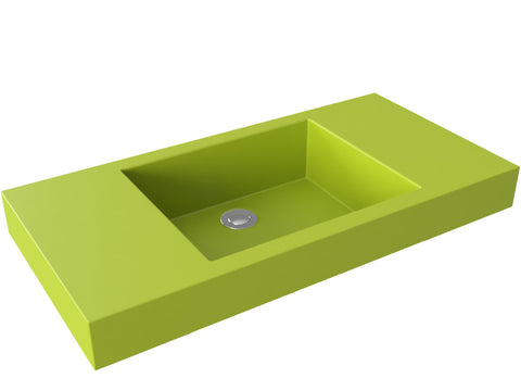 apple green flat bottom vessel bathroom sink