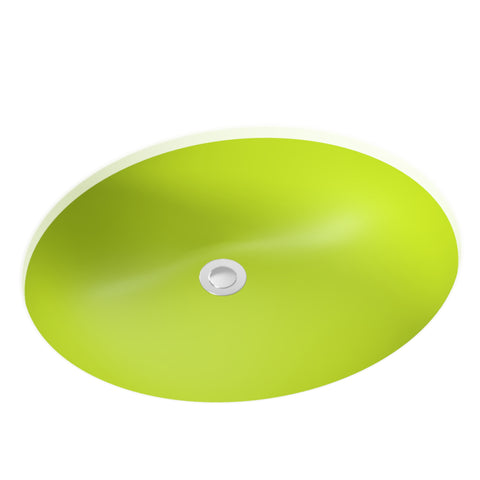 apple green undermount bathroom sink