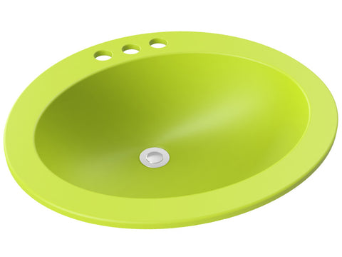 apple green round drop-in bathroom sink