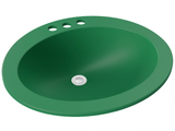 green round drop-in bathroom sink