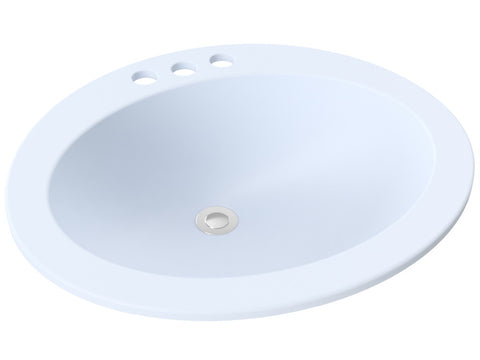 blue-grey grey rounded drop-in bathroom sink