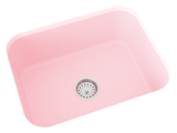 blush pink undermount kitchen sink