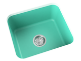 teal blue undermount laundry sink