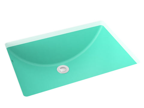 teal blue undermont bathroom sink