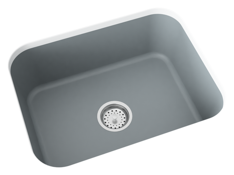 grey undermount kitchen sink