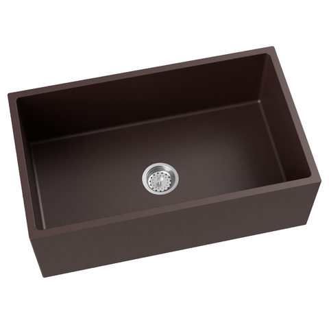 brown grey farmhouse kitchen sink