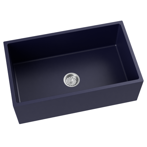 navy blue farmhouse kitchen sink