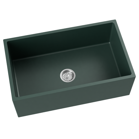 forest green farmhouse kitchen sink