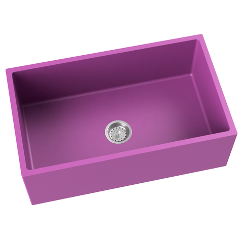 purple pink farmhouse kitchen sink