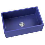 cobalt blue farmhouse kitchen sink
