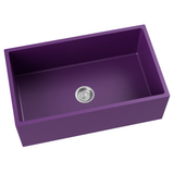 purple farmhouse kitchen sink