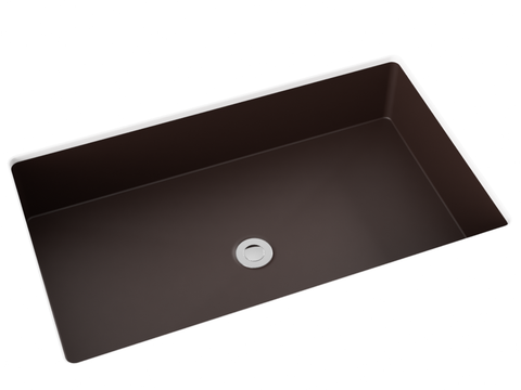 dark grey smoke undermount bathroom sink
