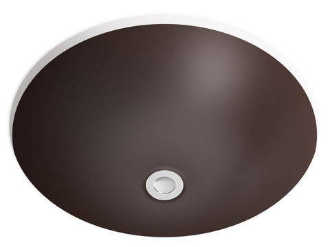 brown undermount bathroom sink