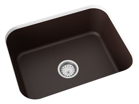 brown undermount kitchen sink