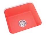coral laundry sink