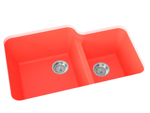 coral double basin kitchen sink