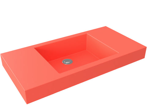coral flat bottom vessel bathroom sink