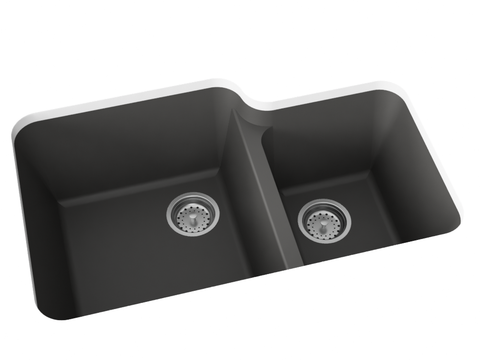 grey double basin kitchen sink