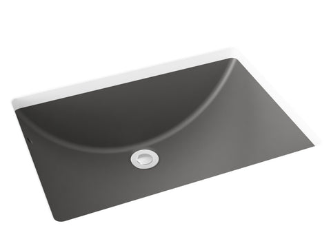 grey undermount bathroom sink