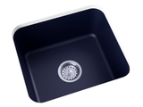 navy blue undermount laundry sink