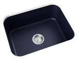 navy blue undermount kitchen sink