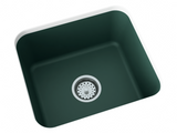 emerald green laundry sink